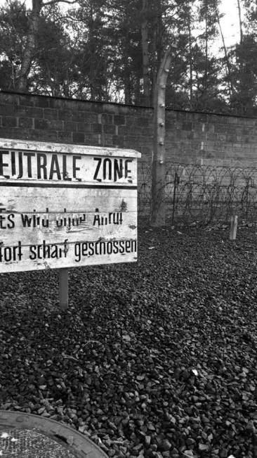"""""""Dead zone"""" - Sachsenhausen Concentration Camp , January 2018"""