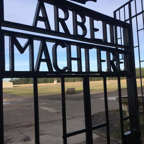 """Work makes you free"" - Sachsenhausen Concentration Camp , January 2018"